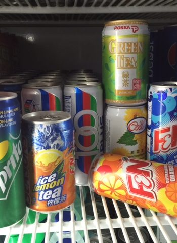 Chilled Canned Soft Drinks